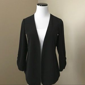 The Limited Black Open Front Jacket Blazer